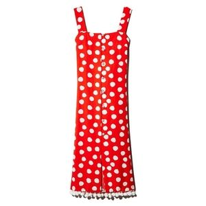 No Frills By Mother Of Pearl Polka Dot Dress Red